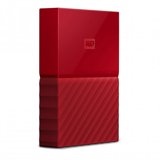 DISCO DURO EXTERNO WD MY PASSPORT 2TB 2,5'' USB 3.0 ROJO