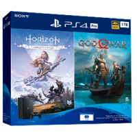 PLAYSTATION 4 1TB PRO + GOD OF WAR + HORIZON ZERO DAWN | Consolas PS4 baratas | PS4, ofertas en consolas y juegos